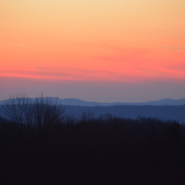 Watercolor sky. by Kristy Newell - Landscapes Sunsets & Sunrises ( sky, watercolors, sunset, pennsylvania, evening )