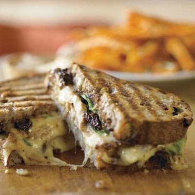 Pork Loin & Fig Panini with Sweet Potato Fries