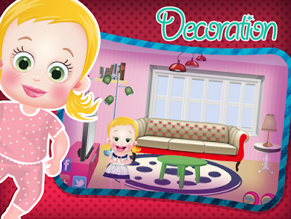 Baby room decoration apk 1 0 4 by rooster games free for Baby rooms decoration games