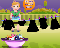 Screenshot of Washing Clothes Baby Games