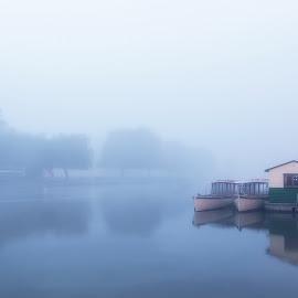 Misty River Avon by David Dean - Landscapes Waterscapes ( fog, stratford on avon, d610, nikon, river )