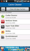 Screenshot of App Cache Cleaner