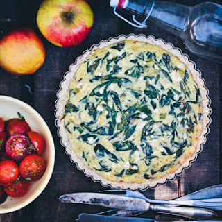 Spinach and Feta Pie with an Oat Crust