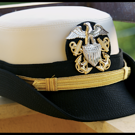 Thinking Cap by Rhiannon Crothers - Artistic Objects Clothing & Accessories ( cover, outdoor, navy, crest, military, hat )