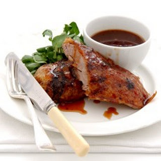 Roast Seville Orange-glazed Duck with Port Wine Sauce