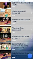 Screenshot of Pilates Workout Exercises