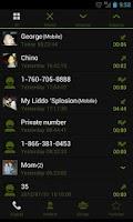 Screenshot of GOContacts Theme Holo Green