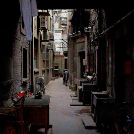 Alley near FuXing Lu, Shanghai by Bob Buurman - Buildings & Architecture Homes (  )