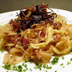 German Spaetzle with Sauerkraut