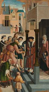 RIJKS: Meester van Alkmaar: The Seven Works of Mercy 1504