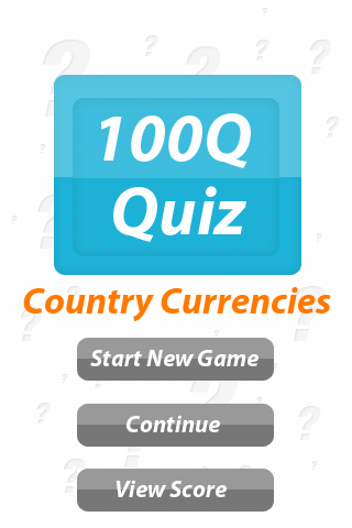 Country Currency: 100Q Quiz
