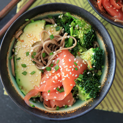 Smoked Salmon Soba Bowl