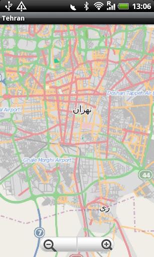 Tehran Street Map