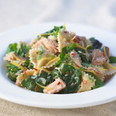 Farfalle With Tuna, Lemon & Spinach