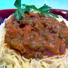 Turkey or Lean Beef Meat Sauce (Optional Crock Pot)