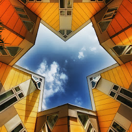 Star house by Andy Just Andy - Buildings & Architecture Architectural Detail ( blue, orange. color )