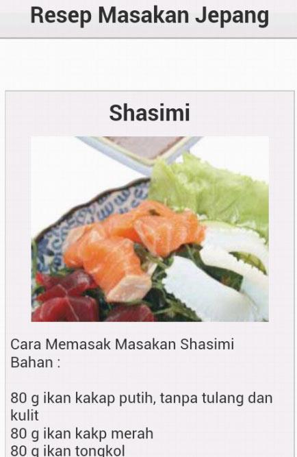 Resep Masakan Jepang Shasimi