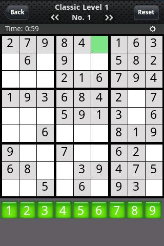 sudoku-classics for android screenshot
