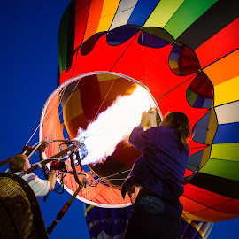 Sky Ride by Lisa Perez-Wellott - Transportation Other ( hot air balloon, balloon ride, lake skinner, balloon and wine festival, transportation )