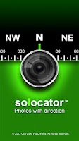 Screenshot of Solocator - GPS Camera+Compass