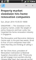 Screenshot of SGNews (Singapore News)