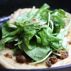 Merguez Grill Breads with Fennel-Arugula Salad