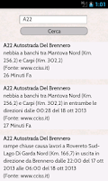 Screenshot of Traffico Autostrade