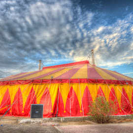 THE MONTE CARLO CIRCUS -QURUM AMUSEMENT PARK, MUSCAT OMAN by PRIYANKA GHOSH - City,  Street & Park  Amusement Parks ( clouds, park, nature, tent, circus )