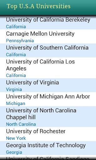 Top U.S Engg Universities