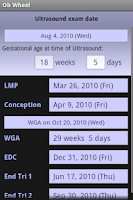 Screenshot of Ob (Pregnancy) Wheel