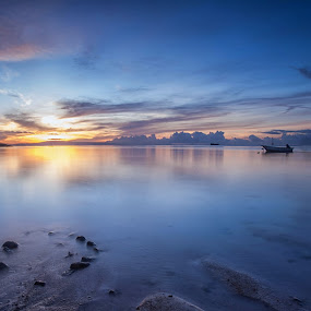 Sunrise fromMertasari Beach, Sanur, Bali  by Aloysius Alphonso - Landscapes Sunsets & Sunrises