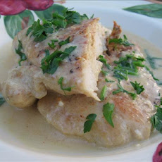 Stove Top Chicken in Mustard Sauce