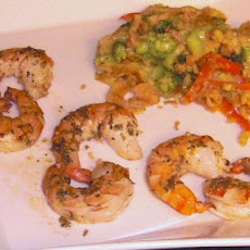 Weight Watchers Baked Shrimp in Lemon Garlic Sauce-4 Points