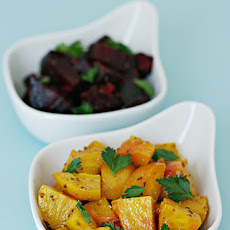 Baked Golden and Red Beets with Anise Vinaigrette