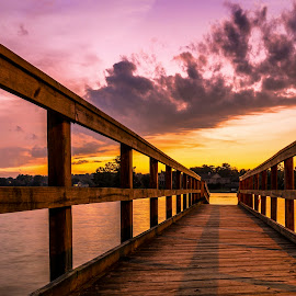 Sunset Dock by Trent Eades - Buildings & Architecture Other Exteriors ( color, sunset, pier, lake, dock, river,  )