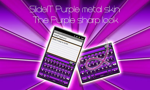 SlideIT Purple Metal Skin