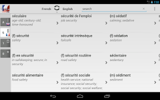Screenshot of BK Dictionary French English