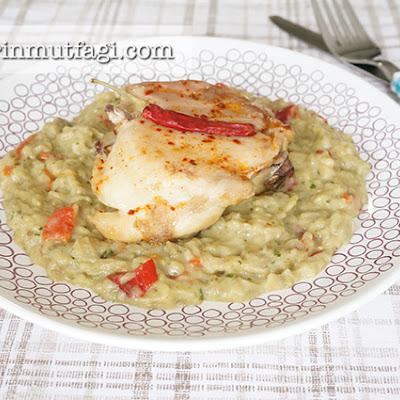 Eggplant Pesto Puree With Chicken
