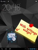 Screenshot of Galaxy S5 Digital Clock LWP