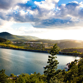 Sunny by Goran Matejin - Landscapes Mountains & Hills ( hills, mountains, forest, lake, landscape, sun )