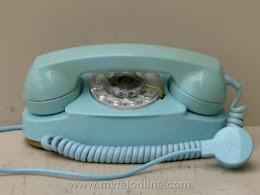 Desk Phones - Western Electric 702B Blue Princess 1