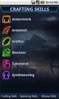 Screenshot of SWTOR CrewSkills Companion