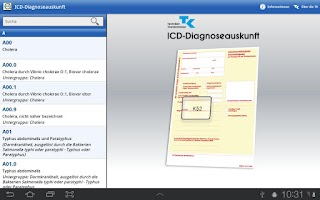 Screenshot of ICD-10 Diagnoseauskunft