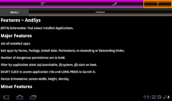Screenshot of AndSys
