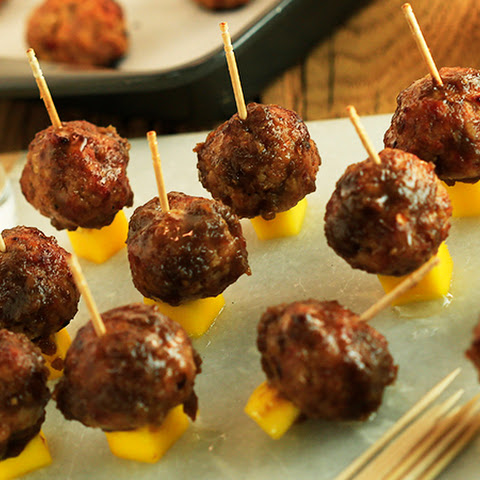 Clinton Kelly's Spicy Turkey Meatballs with Sweet Mango Glaze