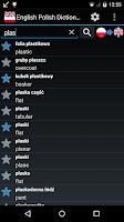 Screenshot of English Polish Dictionary