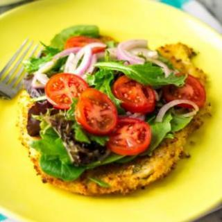 Baked Chicken Milanese with Salad