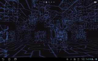 Screenshot of Tech Paper 3D Live Wallpaper