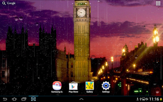 Screenshot of Rainy London Live Wallpaper
