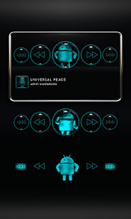 Poweramp Widget Lightblue Droi Screenshot